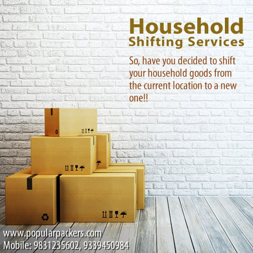 The Need of Today-Packing And Moving of Household Goods Kolkata